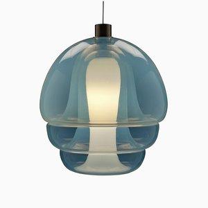 Lámpara colgante de vidrio opalescente de Carlo Nason para Mazzega, años 60