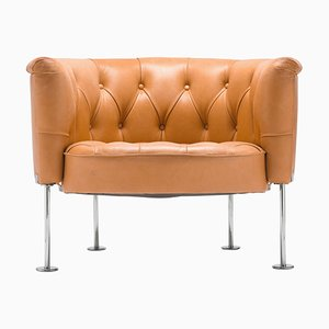 Tufted Leather Club Chair by Robert & Trix Haussmann, 1965