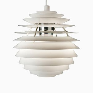 Danish Louvre Pendant Lamp by Poul Henningsen for Louis Poulsen, 1950s