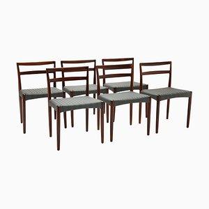 Dänische Vintage Esszimmerstühle aus Palisander von Harry Ostergaard für Randers Møbelfabrik, 1960er, 6er Set