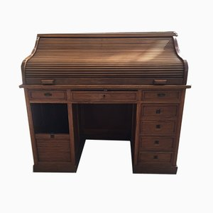 Antique Italian Roll Top Secretaire