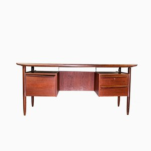 Cowhorn Writing Desk by Tijsseling Nijkerk, 1950s