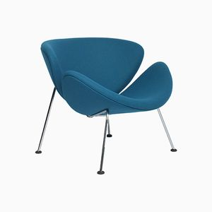 Blauer Mid-Century Sessel von Pierre Paulin für Artifort, 1960er