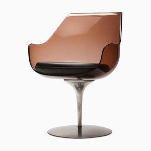 Champagne Sessel aus Plexiglas von Estelle & Erwin Laverne, 1950er