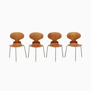Myran Chairs by Arne Jacobsen for Fritz Hansen, 1950s, Set of 4