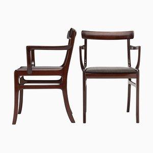 Armlehnstühle von Ole Wanscher für Poul Jeppesens Møbelfabrik, 1960er, 2er Set