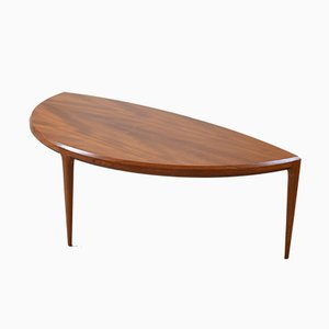Large Danish Three-Legged Teak Coffee Table by Johannes Andersen, 1950s