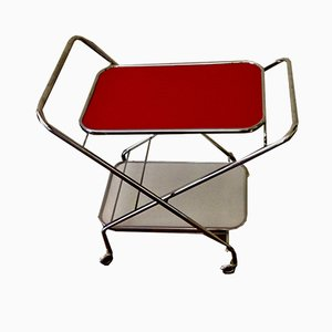 Folding Bar Trolley on Casters from Richard Création, 1960s