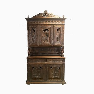 Early 20th Century Chestnut Breton Buffet