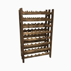 Antique Wooden Wine Rack