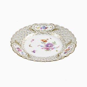 Assiette Antique Peinte à la Main de Meissen Porzellan