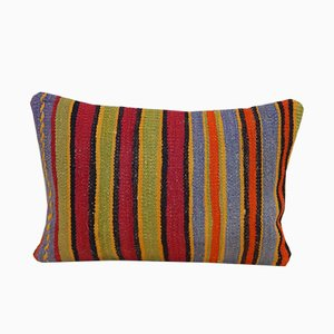 Bohemian Handmade Rectangular Kilim Pillow Cover from Vintage Pillow Store Contemporary