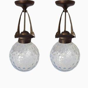Lanterne Art Nouveau, set di 2
