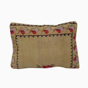 Large Floral Needlepoint Kilim Pillow Cover from Vintage Pillow Store Contemporary