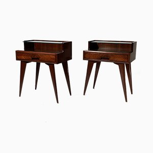 Mid-Century Italian Double Shelved Nightstands from Dassi, 1950s, Set of 2