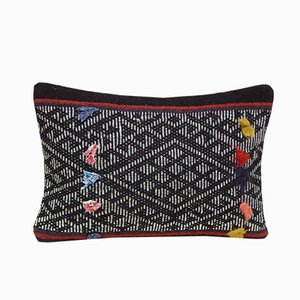 Turkish Handwoven Kilim Pillow Cover with Aztec Pattern from Vintage Pillow Store Contemporary
