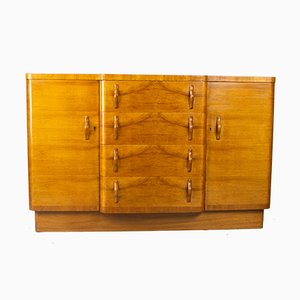 Art Deco Walnut Cocktail Sideboard, 1930s