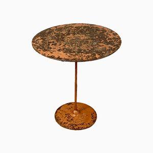 Mesa de bistró francesa antigua de Gueridon Ruffier