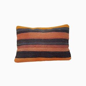 Rostfarbener türkischer Kelim Wollbezug von Vintage Pillow Store Contemporary