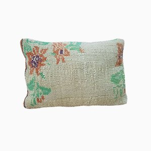Boho Floral Oushak Rug Pillow Cover from Vintage Pillow Store Contemporary