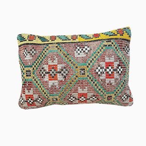 Patterned Oushak Kilim Pillow Cover from Vintage Pillow Store Contemporary