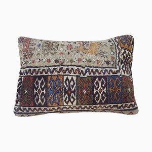 Kelim Wollkissenbezug mit Tier-Motiven von Vintage Pillow Store Contemporary