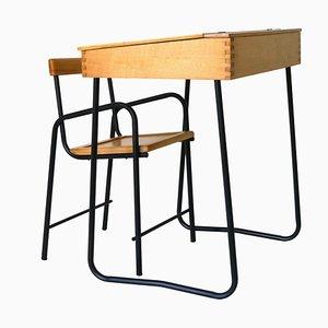 Schreibtisch & Stuhl Set für Kinder, 1960er