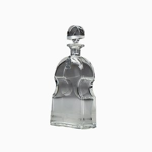 Swedish Cut & Engraved Art Deco Decanter by Elis Bergh for Kosta, 1920s