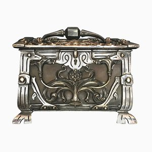 Art Nouveau Jewelry Box Casket, 1900s