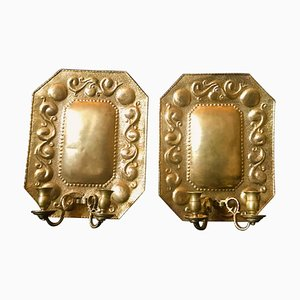 Brass Dutch Sconces, 1880s, Set of 2