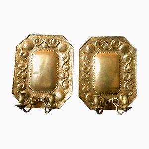 Brass Dutch Sconces, 1880s, Set of 2