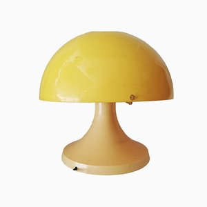 Vintage Yellow Mushroom Table Lamp, 1970s