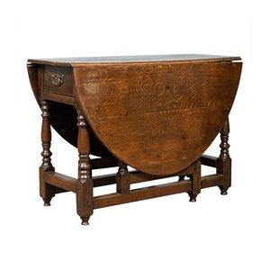 Antiker englischer Esstisch aus Eiche, 1790er