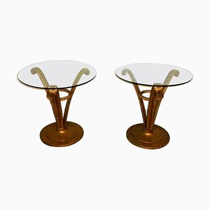 Hollywood Regency Side Tables from Grosfeld House, 1950s, Set of 2
