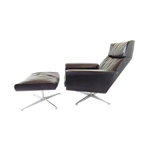 Vintage Siesta 62 Lounge Chair with Ottoman by Jacques Brule for Kaufeld