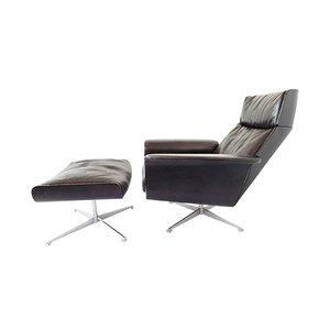 Vintage Siesta 62 Sessel mit Fußhocker von Jacques Brule für Kaufeld