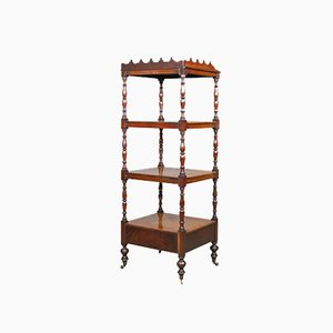 Antique English Mahogany Whatnot, 1820s