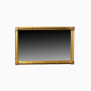 Antique English Giltwood Georgian Wall Mirror Console, 1800s