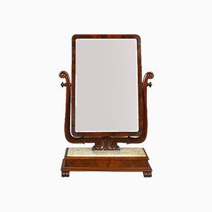 Espejo de tocador victoriano antiguo grande de mármol, década de 1850
