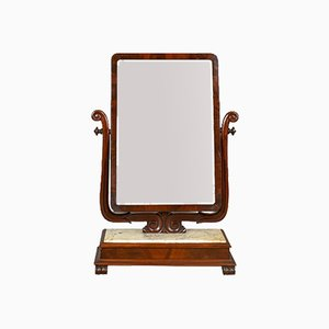 Large Antique Marble Victorian Vanity Mirror, 1850s