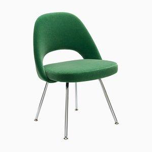 Sedia esecutiva nr. 72 verde in mohair di Eero Saarinen per Knoll, anni '80