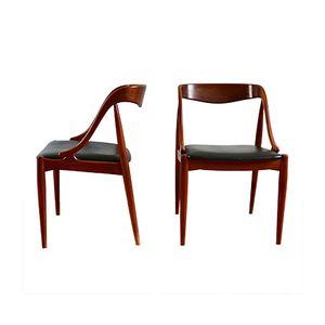 Skandinavische Stühle aus Teak von Johannes Andersen für Uldum Møbelfabrik, 1960er, 6er Set