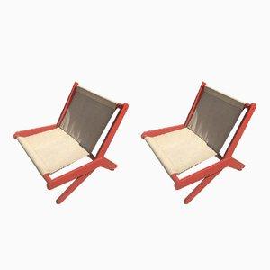 Klappbare Vintage Sessel, 2er Set