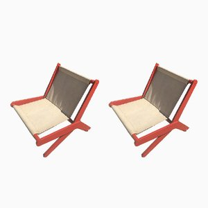 Vintage Folding Lounge Chairs, Set of 2