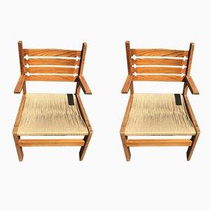 Chaises Vintage en Corde, Set de 2