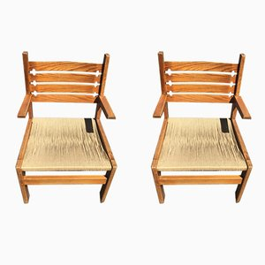 Vintage Rope Chairs, Set of 2