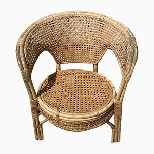 Chaise Mid-Century en Bambou, 1950s