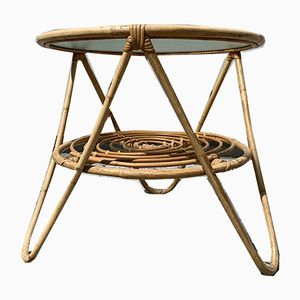 Mid-Century Tisch aus Bambus, 1950er