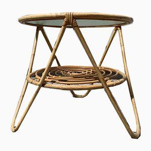 Tavolo Mid-Century in bambù, anni '50