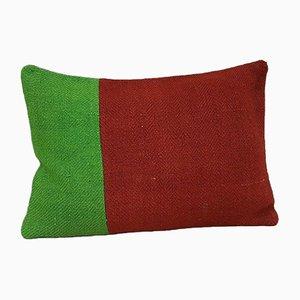 Kissenbezug in Grün & Rot von Vintage Pillow Store Contemporary